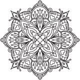 Conception noire abstraite de dentelle dans la ligne style mono - five-fing illustration libre de droits