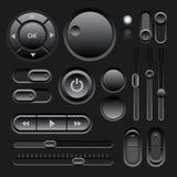 Conception noire d'éléments du Web UI Image libre de droits