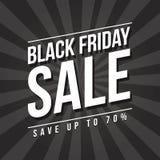 Conception noire de bannière de vente de vendredi Images libres de droits
