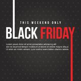 Conception noire de bannière de vente de vendredi Photo libre de droits