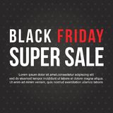 Conception noire de bannière de vente de vendredi Photo stock
