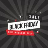 Conception noire de bannière de vente de vendredi Images stock