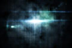 Conception noire de technologie avec la lueur Image stock