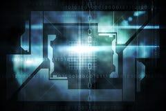 Conception noire de technologie avec la lueur Photos libres de droits