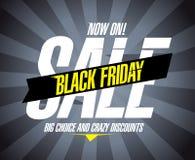 Conception noire de vente de vendredi. illustration stock