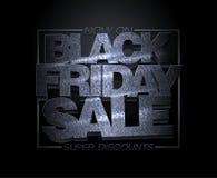 Conception noire de vente de vendredi, remises superbes, bannière de dégagement de vacances de mode illustration libre de droits