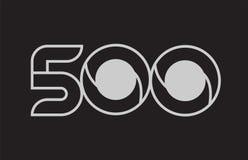 conception noire et blanche d'icône de logo du numéro 500 Images libres de droits