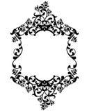 Conception noire et blanche de cadre de vintage de fleurs de Rose Images libres de droits