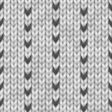 Conception noire et blanche de fairisle de chandail de la Norvège Configuration de tricotage sans joint Tissu de laine Illustrati illustration stock