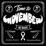 Conception noire et blanche de Movember Photographie stock