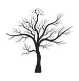 Conception nue d'icône de symbole de vecteur de silhouette d'arbre illustration libre de droits