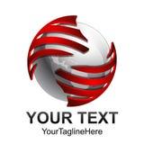 Conception numérique abstraite créative t de logo de vecteur de technologie de sphère illustration de vecteur