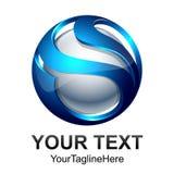 Conception numérique abstraite créative t de logo de vecteur de technologie de sphère illustration stock