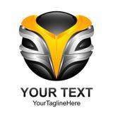 Conception numérique abstraite créative t de logo de vecteur de technologie de sphère illustration libre de droits