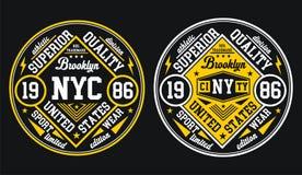 Conception NYC Brooklyn, vecteur de vintage Image stock