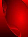 Conception ondulée rouge abstraite illustration libre de droits