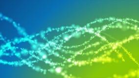 Conception onduleuse brillante de mouvement de lumières de vert bleu illustration libre de droits