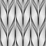 Conception onduleuse de modèle sans couture abstrait Ligne noire dans le style moderne sur le fond blanc illustration libre de droits