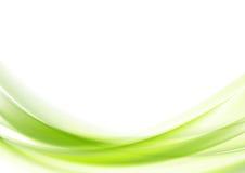 Conception onduleuse verte vibrante de vecteur Photographie stock