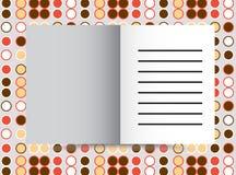 Conception orange de couverture pour le rapport annuel, le catalogue ou la magazine, le livre ou la brochure, le livret ou l'inse illustration libre de droits