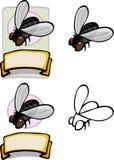 Conception organique de mouche domestique Photographie stock libre de droits
