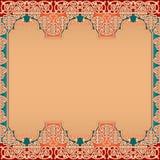Conception orientale de calibre de disposition avec le vintage, ornamental, arabesques Image libre de droits