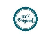 conception originale de vecteur de timbre de 100% illustration stock
