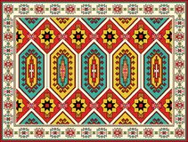 Conception ornementale de tapis Fond tribal de vecteur Photo stock