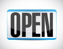 conception ouverte d'illustration d'étiquette de signe Image stock