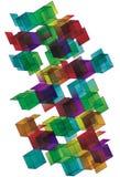 Conception ouverte de page de cube en gradient Image libre de droits
