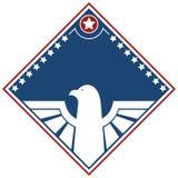Conception patriotique d'Eagle American Photos libres de droits