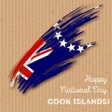 Conception patriotique d'Islands Independence Day de cuisinier Image stock