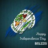 Conception patriotique de Jour de la Déclaration d'Indépendance de Belize Photos stock