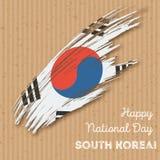 Conception patriotique de Jour de la Déclaration d'Indépendance de la Corée du Sud Images libres de droits