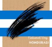 Conception patriotique de Jour de la Déclaration d'Indépendance du Honduras Photographie stock libre de droits