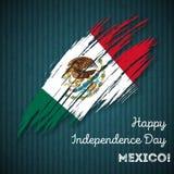Conception patriotique de Jour de la Déclaration d'Indépendance du Mexique illustration stock