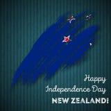 Conception patriotique de Jour de la Déclaration d'Indépendance du Nouvelle-Zélande illustration de vecteur