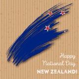 Conception patriotique de Jour de la Déclaration d'Indépendance du Nouvelle-Zélande illustration stock