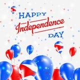 Conception patriotique de Jour de la Déclaration d'Indépendance du Cuba illustration stock