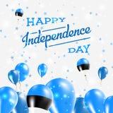 Conception patriotique de Jour de la Déclaration d'Indépendance de l'Estonie Images libres de droits