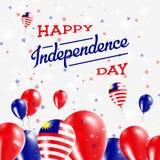 Conception patriotique de Jour de la Déclaration d'Indépendance de la Malaisie illustration de vecteur