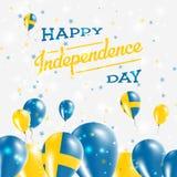 Conception patriotique de Jour de la Déclaration d'Indépendance de la Suède Photographie stock