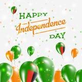 Conception patriotique de Jour de la Déclaration d'Indépendance de la Zambie Image stock