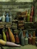 Conception peinte de bouteilles images stock