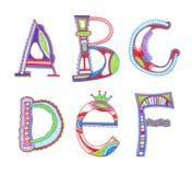 Conception peu précise d'alphabet Photographie stock libre de droits