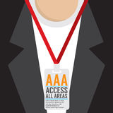 Conception plate Access toute la carte de personnel de secteur Illustration de Vecteur