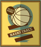 Conception plate Affiche de basket-ball Image stock