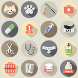 Conception plate Cat Icon Set Images stock