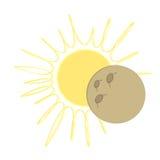Conception plate d'éclipse solaire - musardez au-dessus du soleil Photos stock