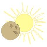 Conception plate d'éclipse solaire - musardez au-dessus du soleil Images libres de droits